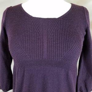 LOFT Dresses - 🌻 LOFT Aubergine Sweater Dress